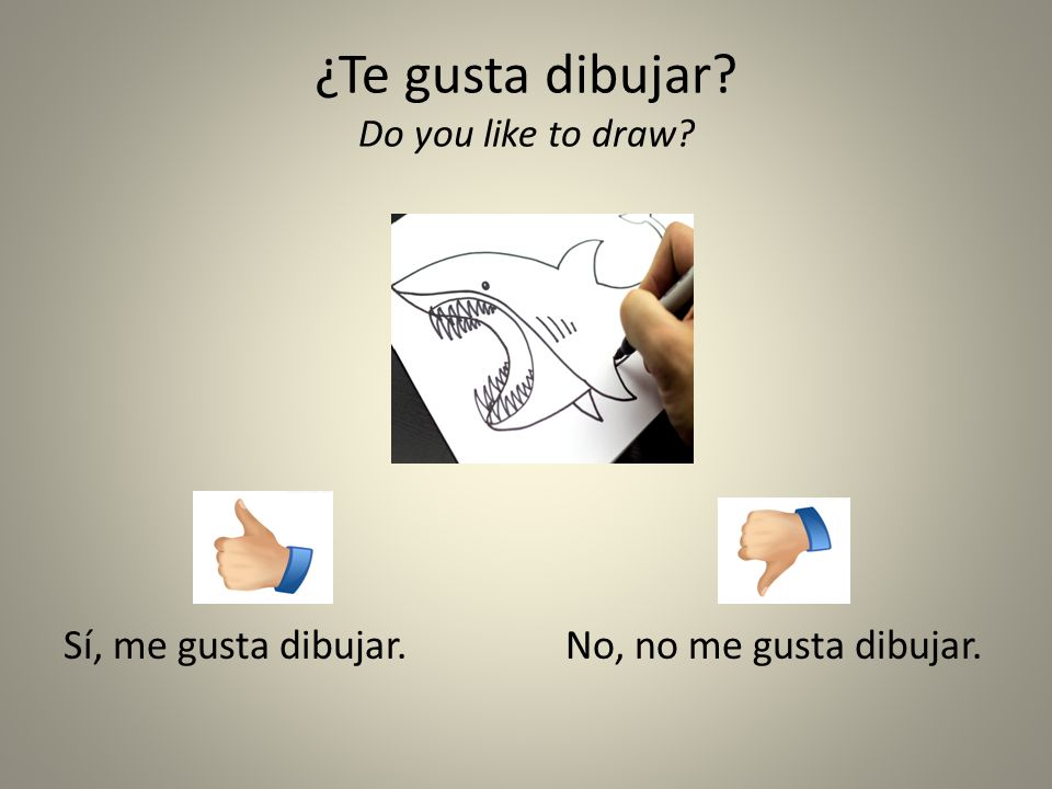 ¿Te gusta dibujar Do you like to draw