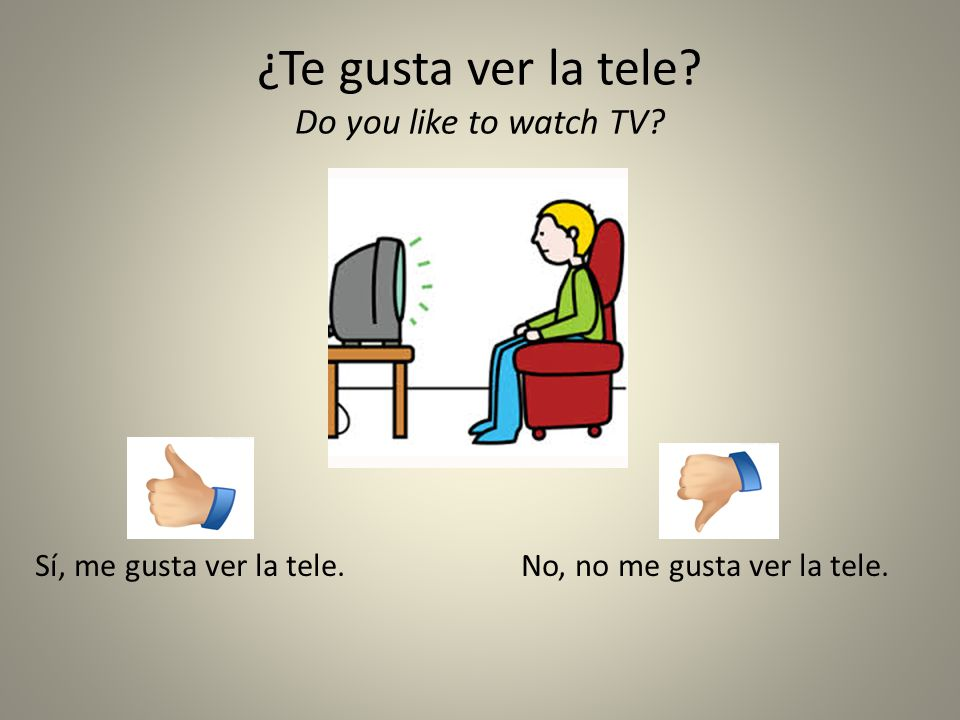¿Te gusta ver la tele Do you like to watch TV