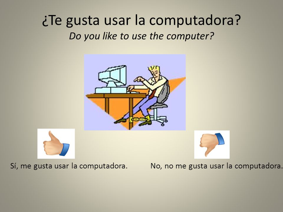 ¿Te gusta usar la computadora Do you like to use the computer