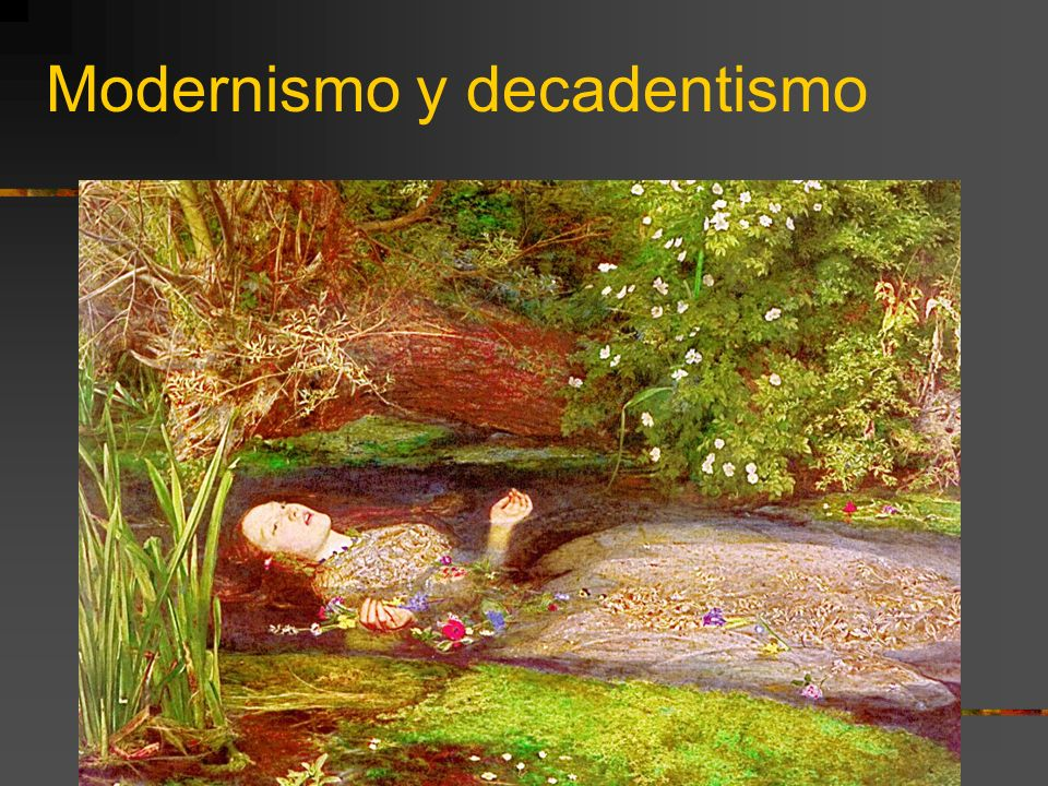 Modernismo y decadentismo