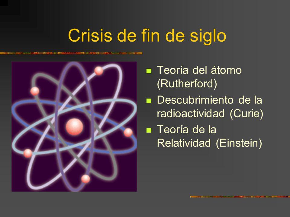 Crisis de fin de siglo Teoría del átomo (Rutherford)