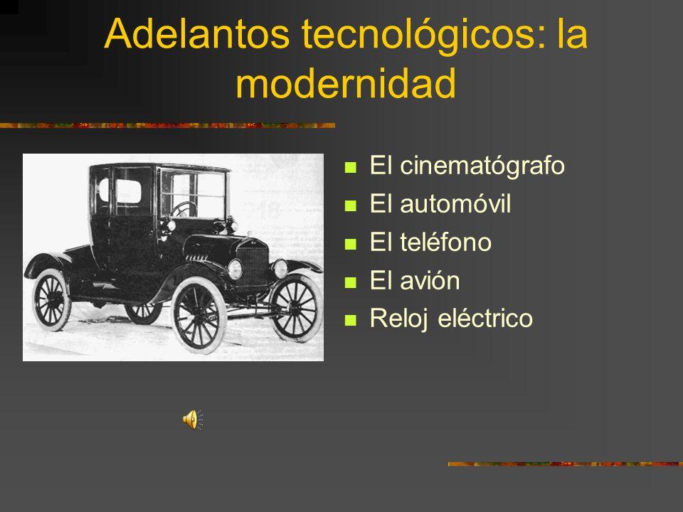 Adelantos tecnológicos: la modernidad