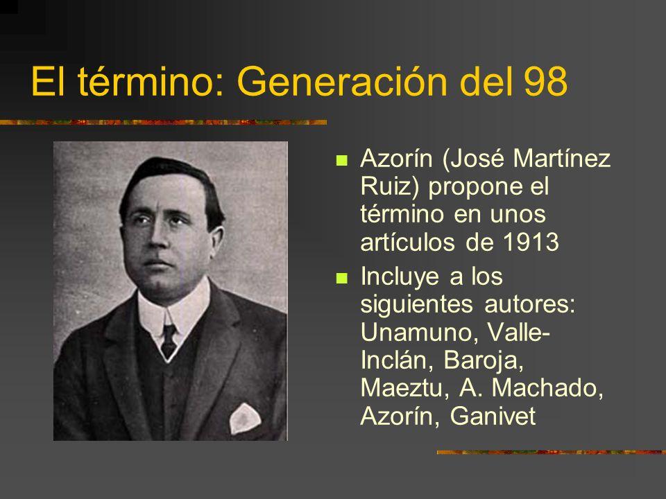El término: Generación del 98