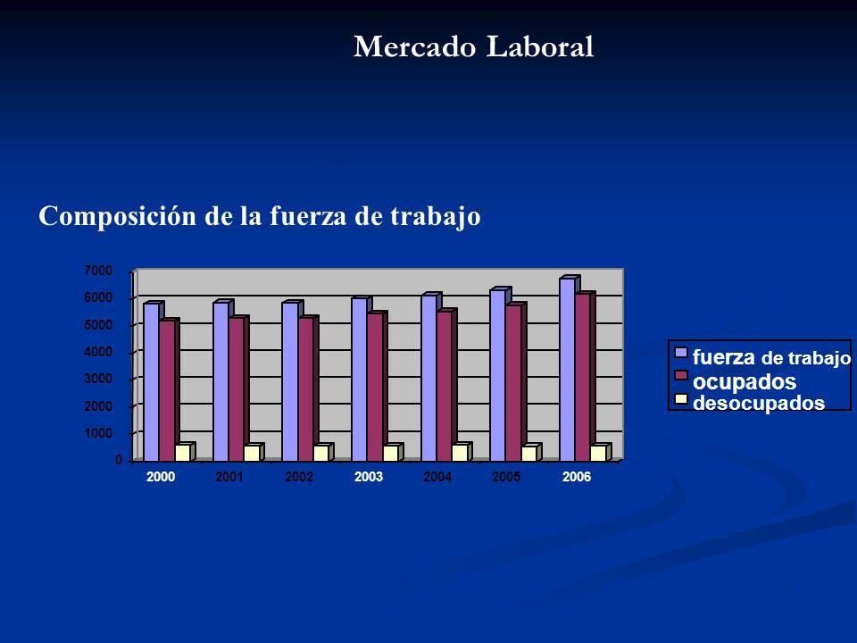 Mercado Laboral ocupados fuerza de trabajo desocupados .