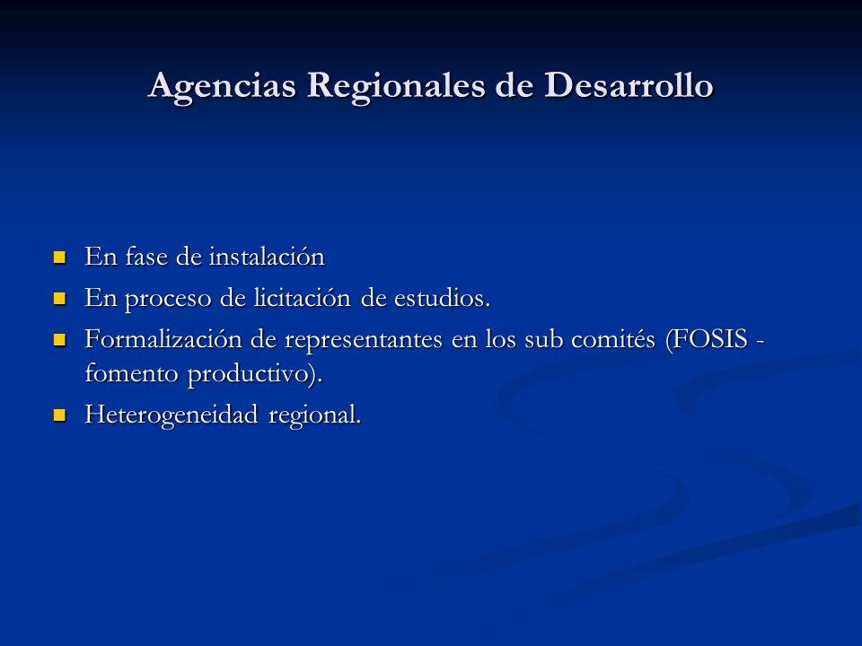 Agencias Regionales de Desarrollo