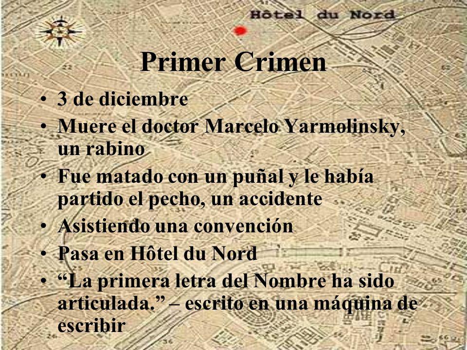 Primer Crimen 3 de diciembre