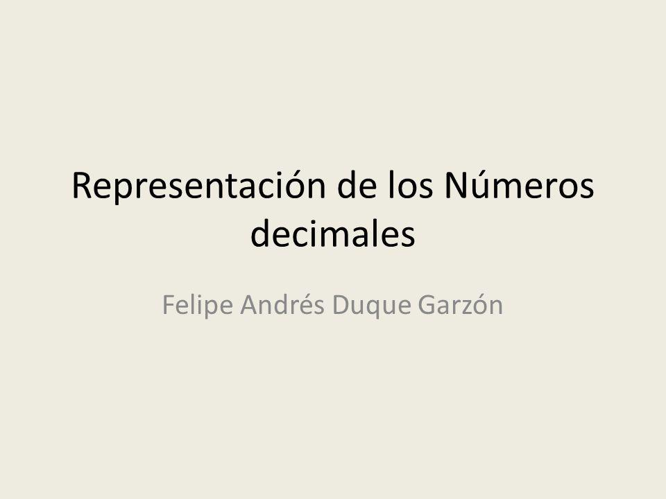 Representación de los Números decimales