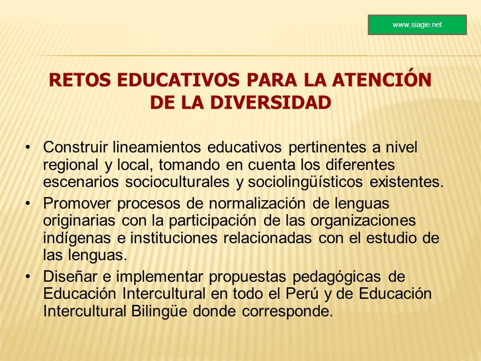 RETOS EDUCATIVOS PARA LA ATENCIÓN DE LA DIVERSIDAD