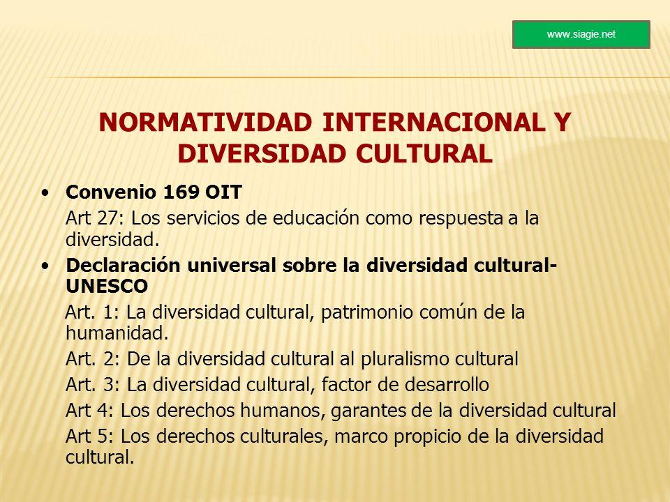 NORMATIVIDAD INTERNACIONAL Y DIVERSIDAD CULTURAL