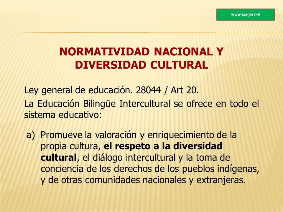 NORMATIVIDAD NACIONAL Y DIVERSIDAD CULTURAL