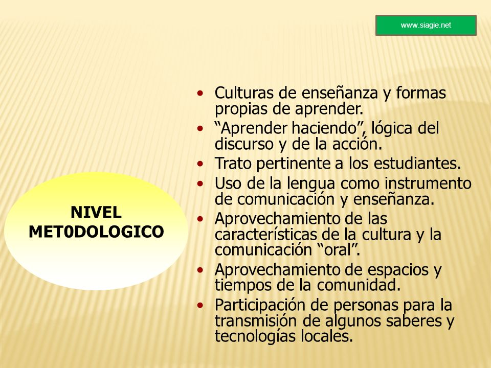 Culturas de enseñanza y formas propias de aprender.