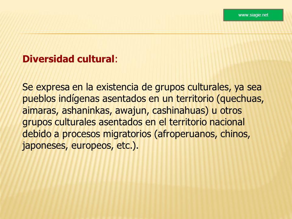 www.siagie.net Diversidad cultural: