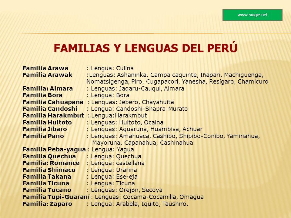 FAMILIAS Y LENGUAS DEL PERÚ