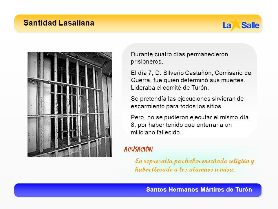 Santidad Lasaliana ACUSACIÓN
