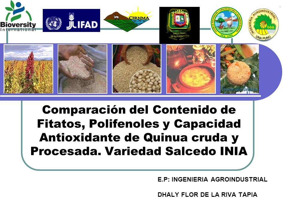 E.P: INGENIERIA AGROINDUSTRIAL DHALY FLOR DE LA RIVA TAPIA