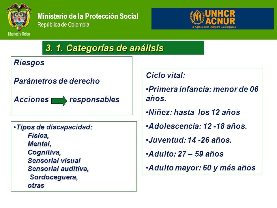 3. 1. Categorías de análisis