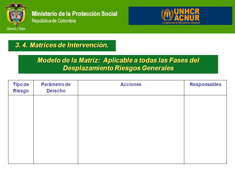 3. 4. Matrices de Intervención.