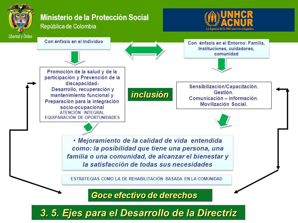 3. 5. Ejes para el Desarrollo de la Directriz