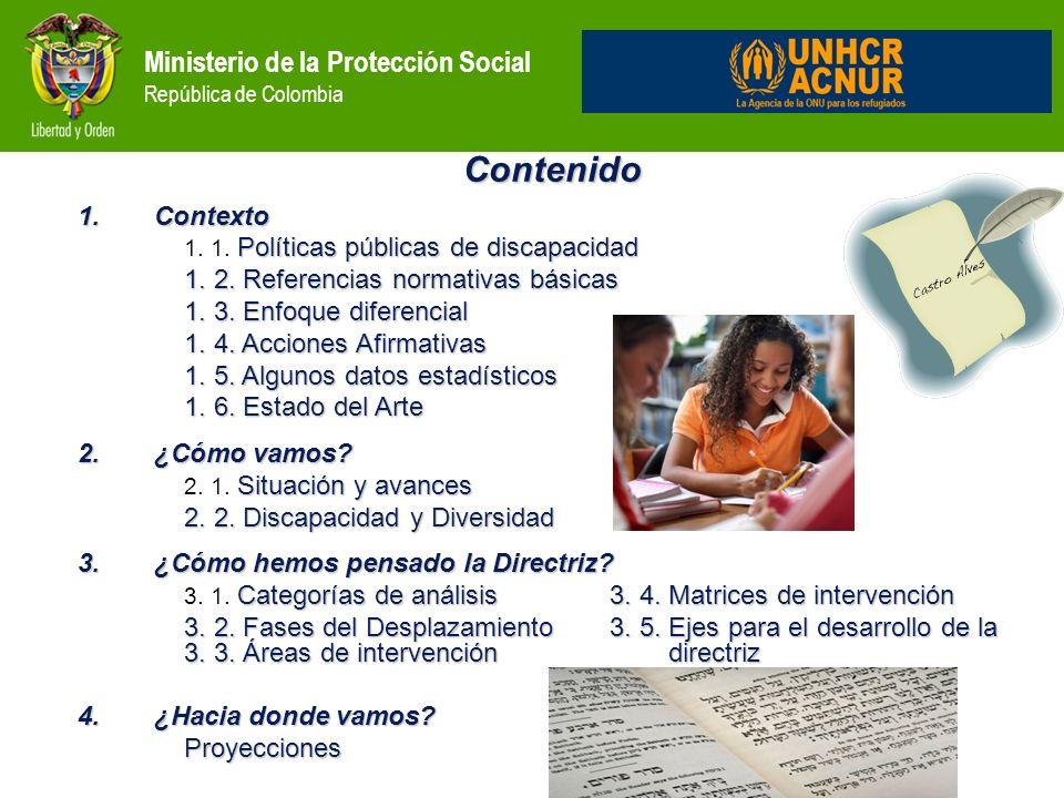 Contenido Ministerio de la Protección Social República de Colombia