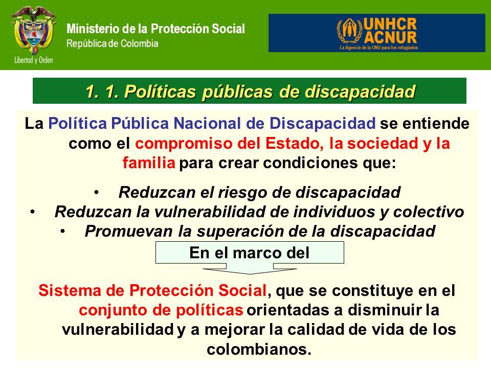 1. 1. Políticas públicas de discapacidad