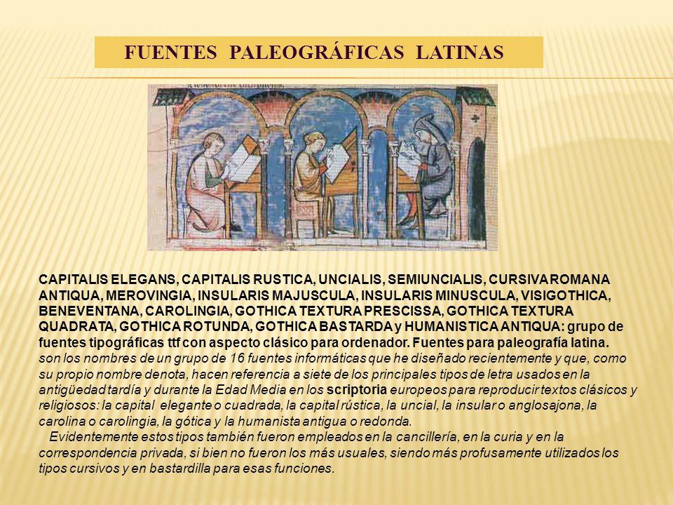 FUENTES PALEOGRÁFICAS LATINAS