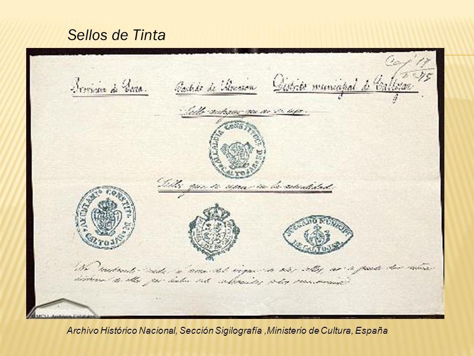 Sellos de Tinta Archivo Histórico Nacional, Sección Sigilografía ,Ministerio de Cultura, España