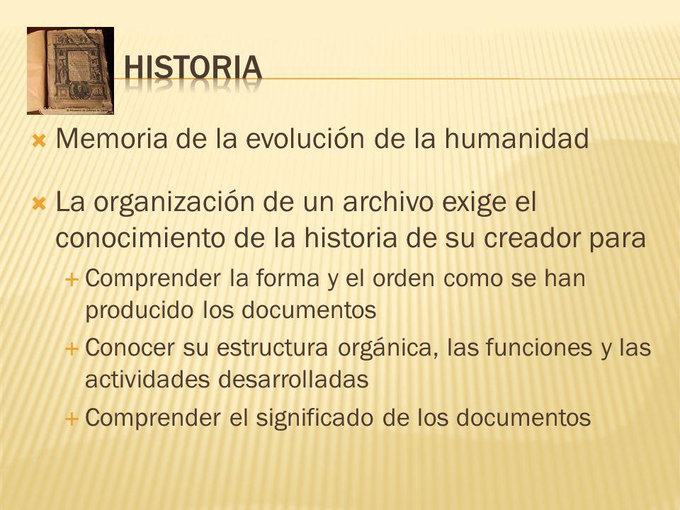 HISTORIA Memoria de la evolución de la humanidad
