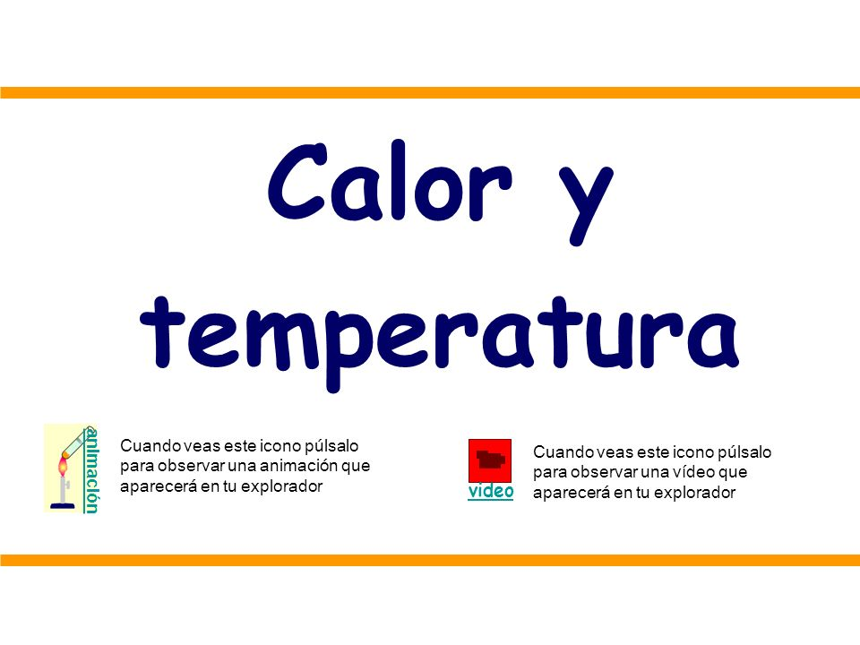 Calor y temperatura video animación