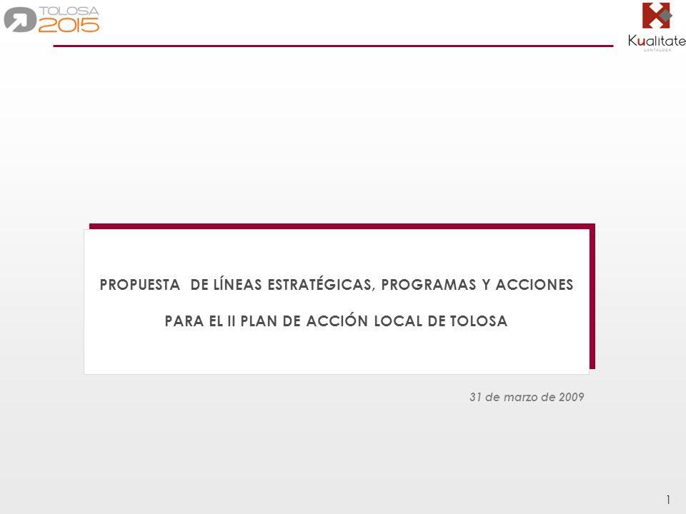PROPUESTA DE LÍNEAS ESTRATÉGICAS, PROGRAMAS Y ACCIONES