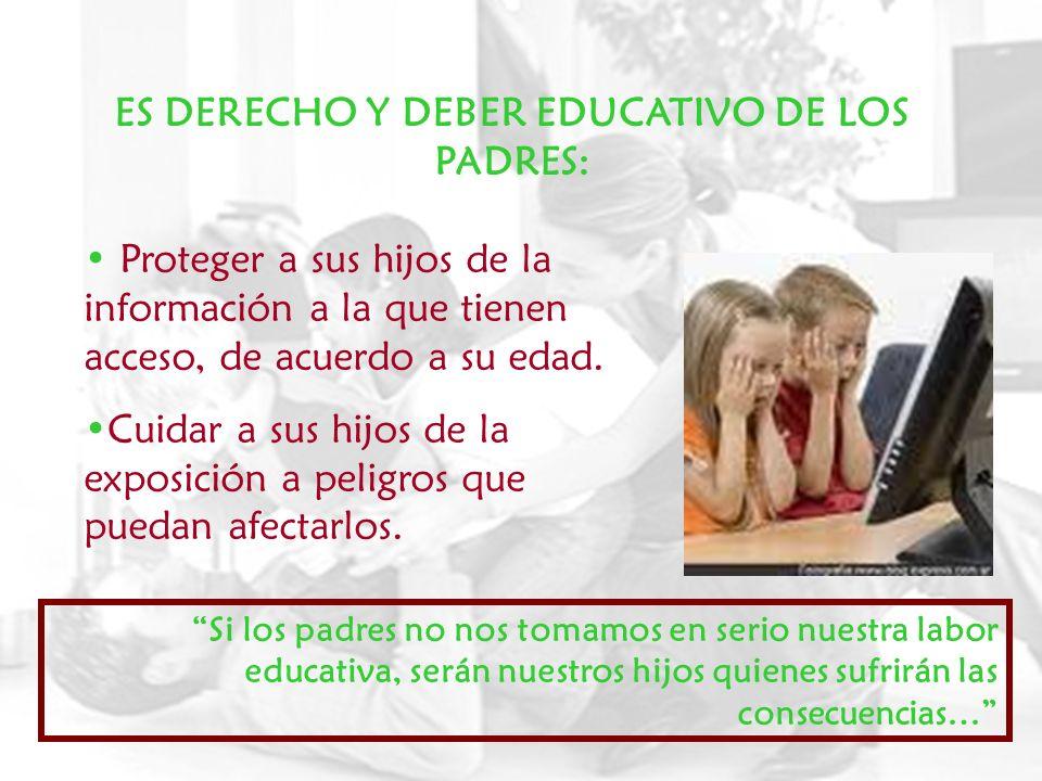 ES DERECHO Y DEBER EDUCATIVO DE LOS PADRES: