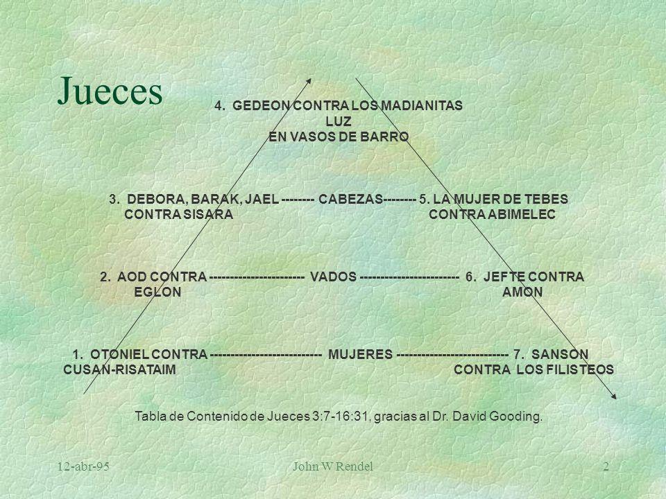 Jueces 4. GEDEON CONTRA LOS MADIANITAS LUZ EN VASOS DE BARRO