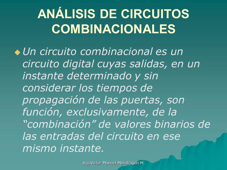 ANÁLISIS DE CIRCUITOS COMBINACIONALES