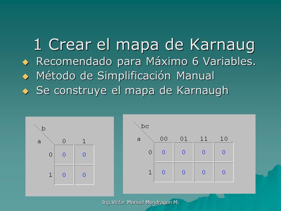 1 Crear el mapa de Karnaug