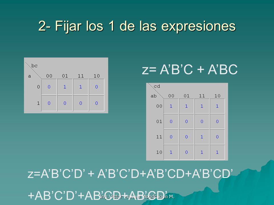 2- Fijar los 1 de las expresiones
