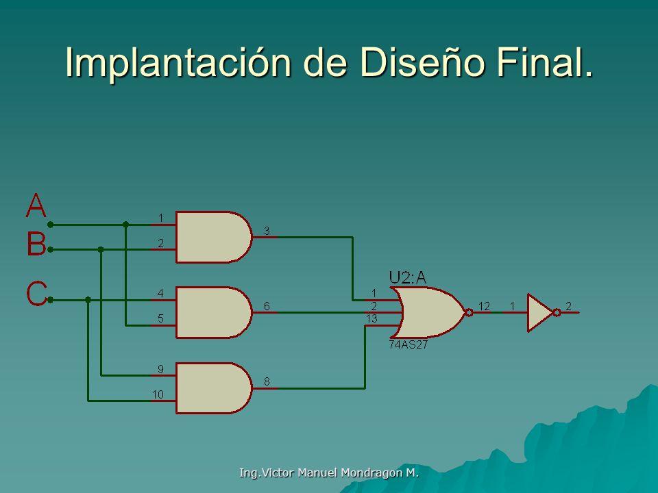 Implantación de Diseño Final.