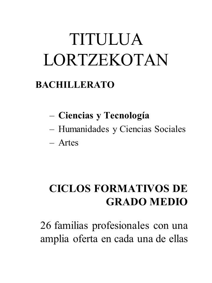 TITULUA LORTZEKOTAN CICLOS FORMATIVOS DE GRADO MEDIO