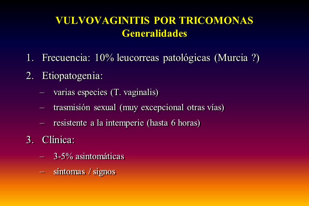 VULVOVAGINITIS POR TRICOMONAS Generalidades