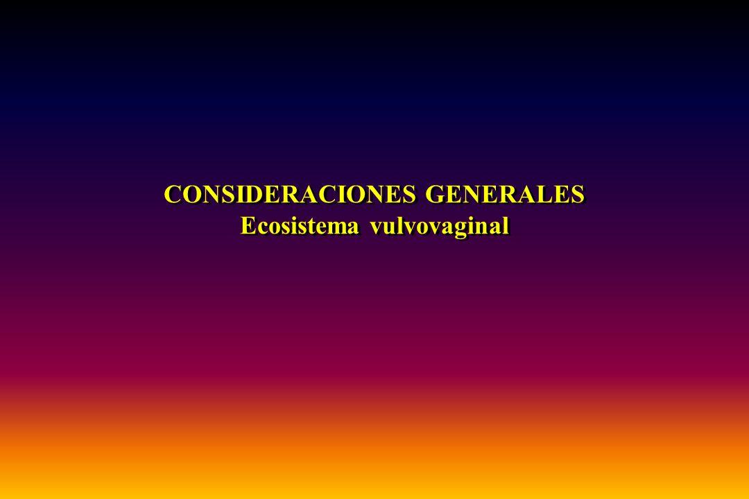CONSIDERACIONES GENERALES Ecosistema vulvovaginal