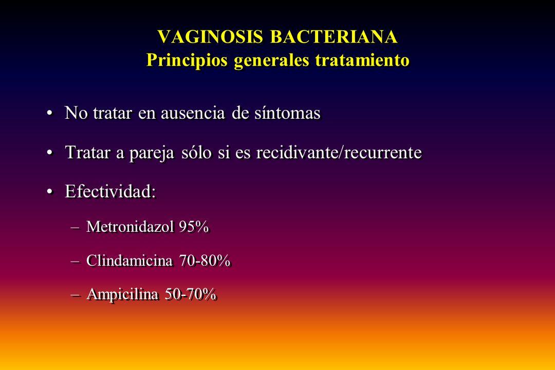 VAGINOSIS BACTERIANA Principios generales tratamiento