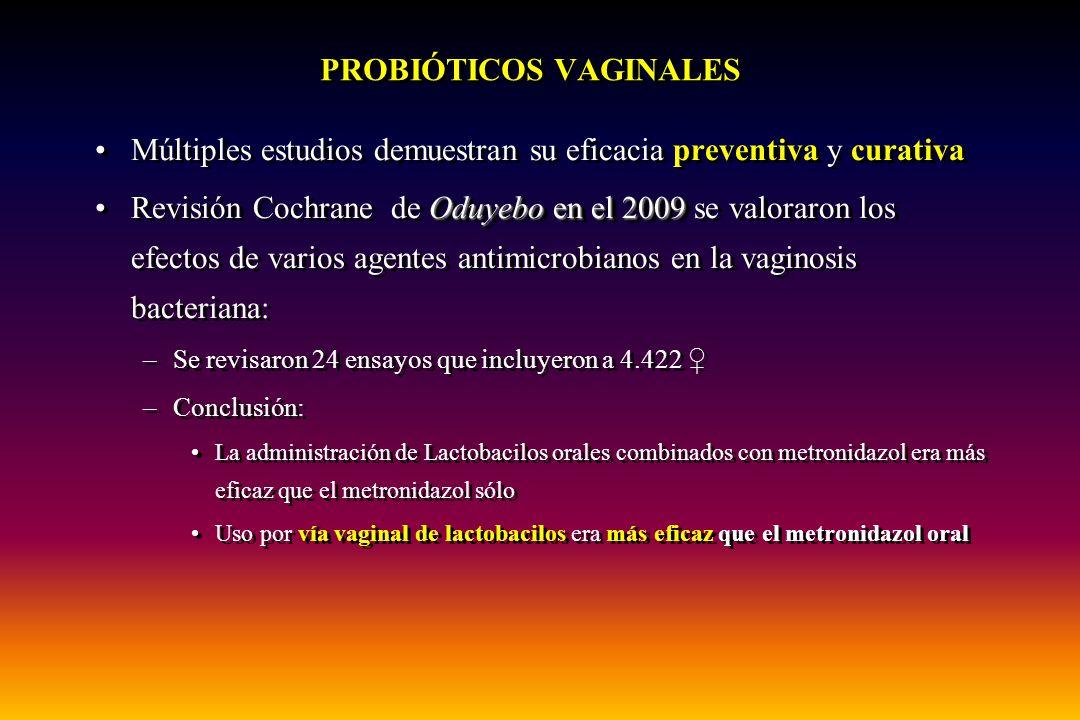 PROBIÓTICOS VAGINALES
