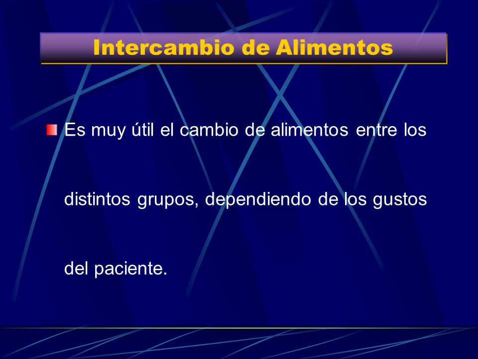 Intercambio de Alimentos