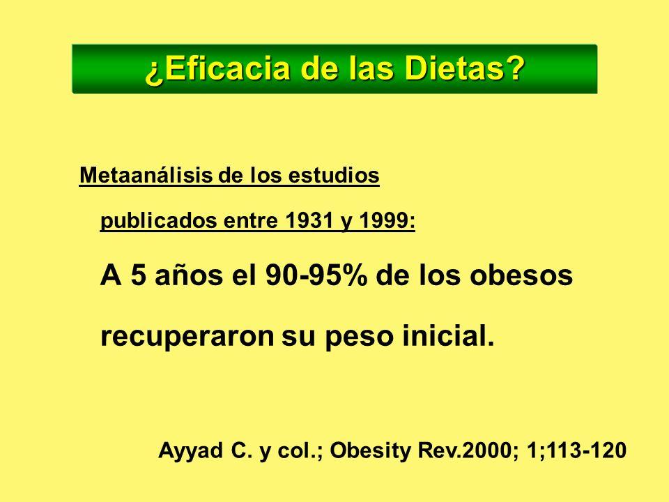 ¿Eficacia de las Dietas