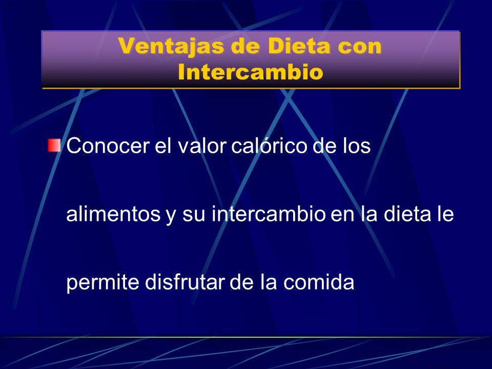 Ventajas de Dieta con Intercambio