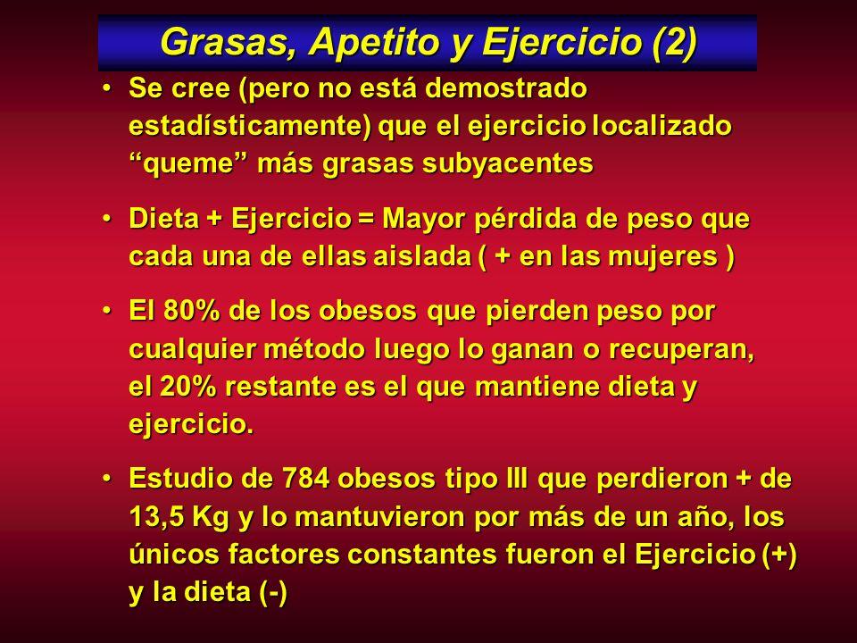 Grasas, Apetito y Ejercicio (2)