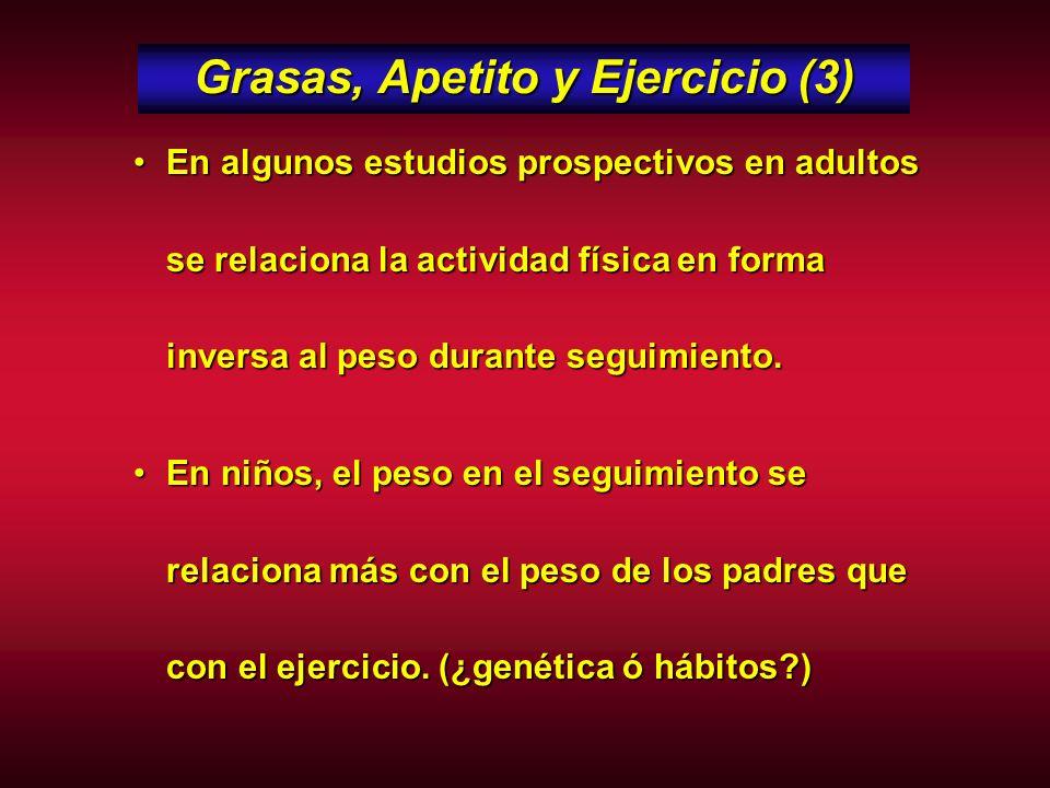 Grasas, Apetito y Ejercicio (3)