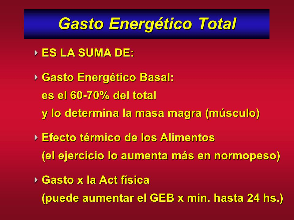 Gasto Energético Total