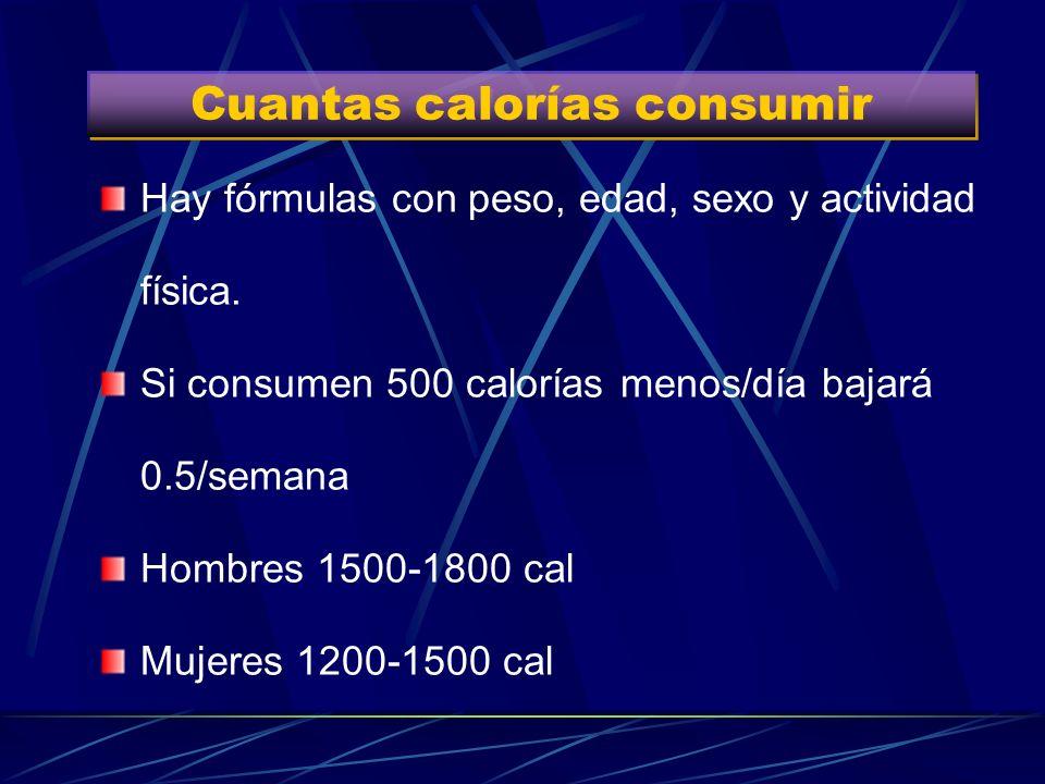 Cuantas calorías consumir