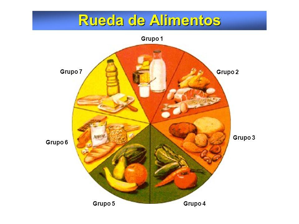 Rueda de Alimentos Grupo 1 Grupo 7 Grupo 2 Grupo 3 Grupo 6 Grupo 5