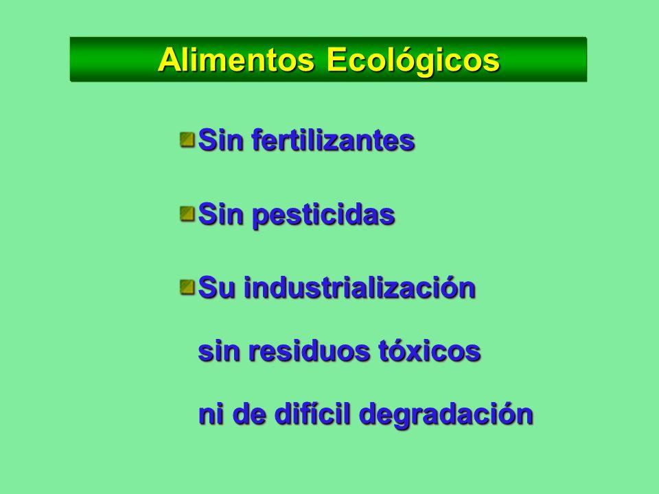 Alimentos Ecológicos Sin fertilizantes Sin pesticidas