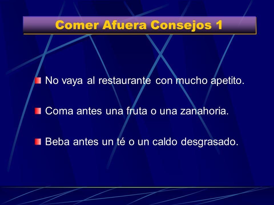 Comer Afuera Consejos 1 No vaya al restaurante con mucho apetito.